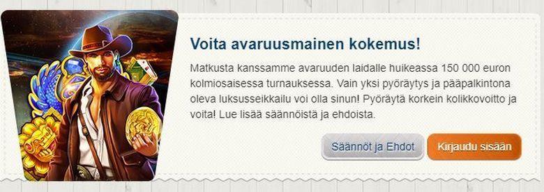 Suomiautomaatti - avaruuskokemus