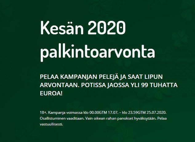 Karjala Kasinon kesän 2020 arvonta
